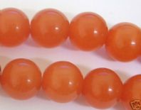 16 Inch Red 6mm Round Cats Eye Beads
